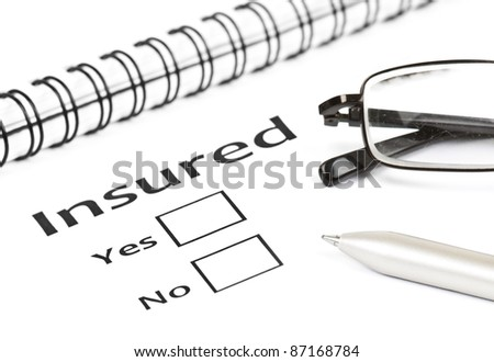 insurance or risk concept