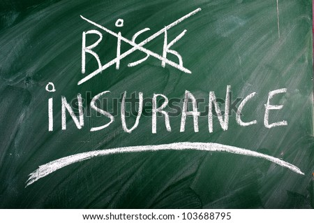 insurance  risk  crossed out green  blackboard