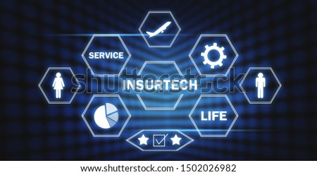 Insurtech-Insurance technology concept. Business concept