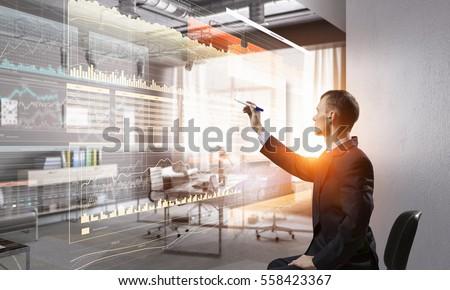 Integrating new technologies . Mixed media Stock photo ©