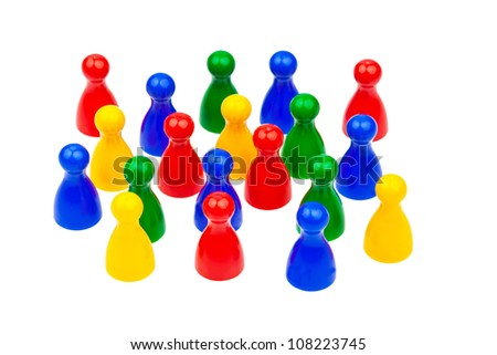integration through cooperation within society. equality and harmony in the team. - stock photo