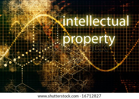 Intellectual Property Abstract Business Concept Wallpaper Background - stock photo