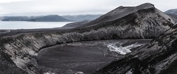 Intense Panorama Picture of Deception Island Antarctica - Vulcano in the middle of Antarctica