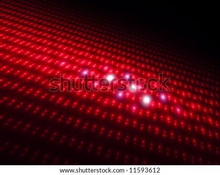 Intense Red Orbs 3D - Fractal Design