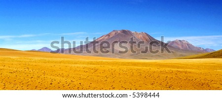 Intensely Colored Landscape - stock photo