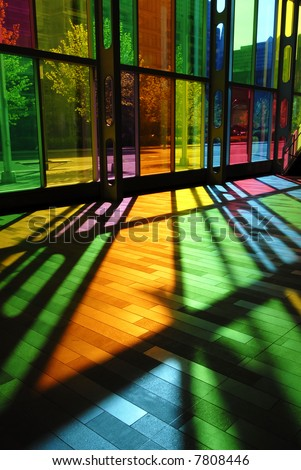 Intensely Colorful Stained Glass Pattern (Palais des Congres - Montreal, Canada)