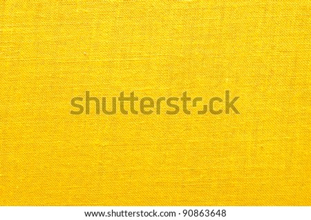 Intensive yellow fabric texture for background