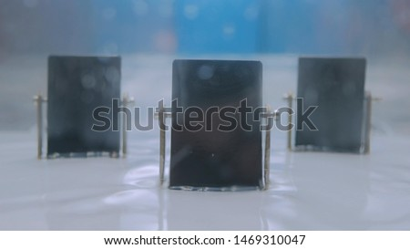 Interactive exposition in science museum - water waves generator. Science, physics and hydrodynamic concept #1469310047