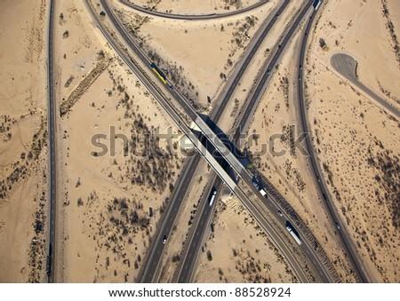 Interchange of Interstate 8 and 10 near Casa Grande, Arizona