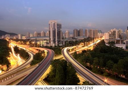 Interchange of the modern city
