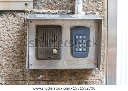 Intercom Door Bell With Numeric Keypad Combination #1531532738
