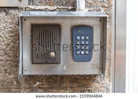 Intercom Door Bell With Numeric Keypad Combination #1559044844