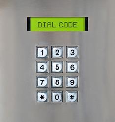 Intercom number pad with