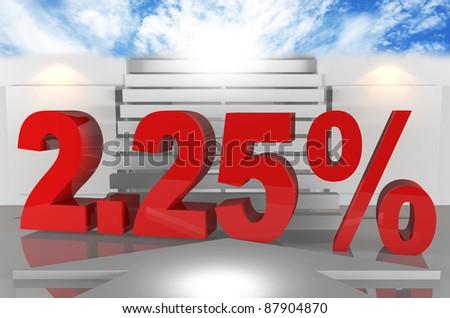 Interest rates Two point twenty-five percent