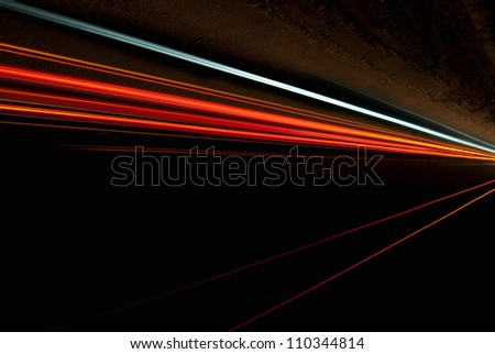 Interesting and abstract lights in orange that can be used as background or texture
