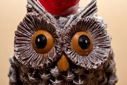 Interesting Brown Owl Statue Staring