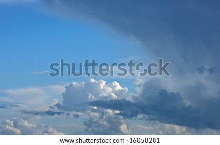 interesting clouds of various types, suitable for background use