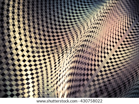 Stock Photo Interesting contrast geometric abstraction. Blurry textures. It contains elements of the checkered flag, suitable for design of the categories of speed, racing, rally, sports. 3D illustration