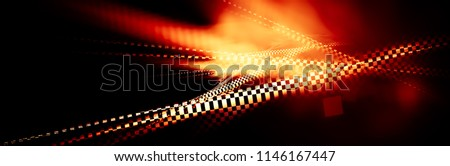 interesting geometric background with elements of checkered flag. shiny rally texture