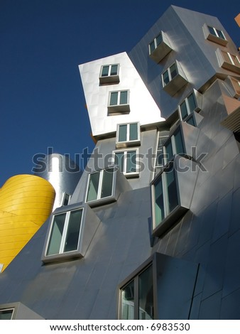 Interesting looking office building designed by Frank Gehry. - stock photo