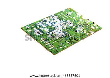 interesting multicolored two sided circuit board with components and test points