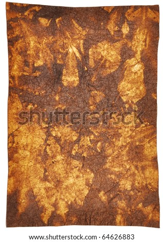 interesting texture old paper isolated on a white background