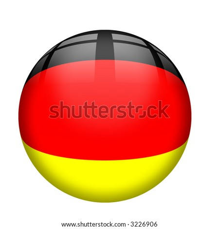 Interface glassy  orb button with German Flag