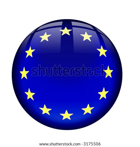 Interface orb button with European Flag