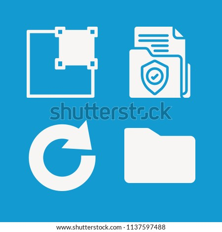 Interface related set of 4 icons such as right align, redo