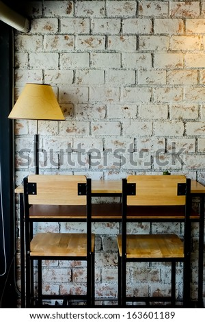 Interior and decoration of a coffee shop, cafe