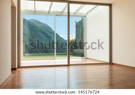 Interior apartment with garden