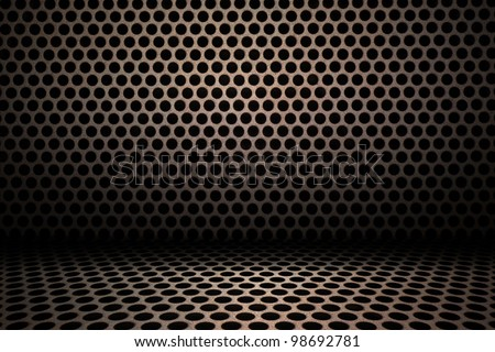 interior background of circle mesh pattern texture