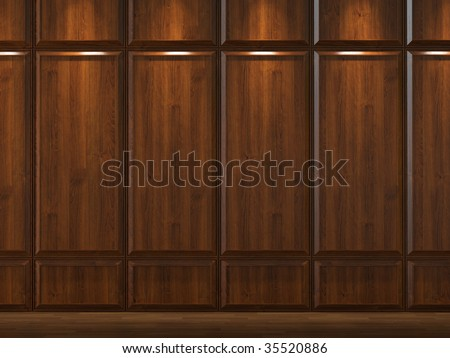interior background of wood cladding wall