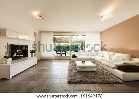 Interior, beautiful apartment, luxurious living room