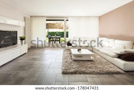 Interior, beautiful apartment, luxurious living room #178047431