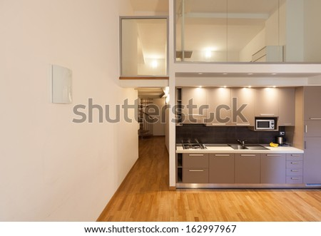 Interior beautiful apartment modern furniture