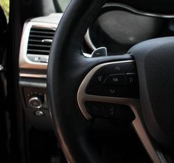 Interior black jeep grand cherokee