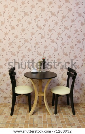 interior coffee shop design. - stock photo
