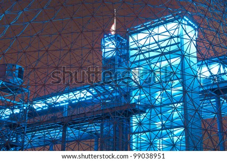 Interior Color of a metal structure.#4 (Night Scene)