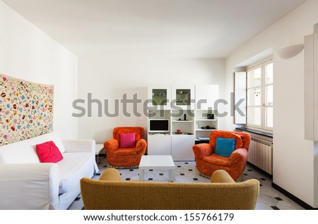 interior, comfortable small apartment, living room