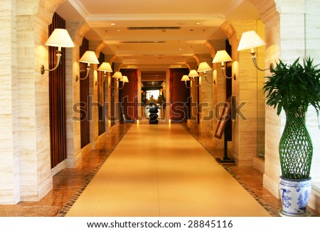 Interior Corridor - stock photo