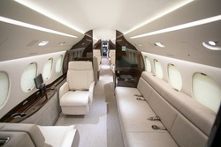interior custom luxury jet aircraft