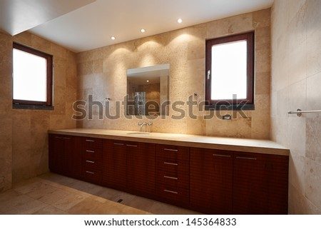 Interior design Beautiful luxury bathroom