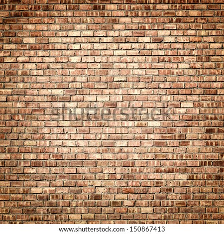 Interior design brick wall with vignette