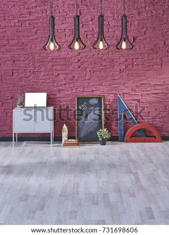 Free photos Modern office Interior with old vintage brick Wall. Art ...