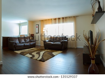 Interior design in a new house