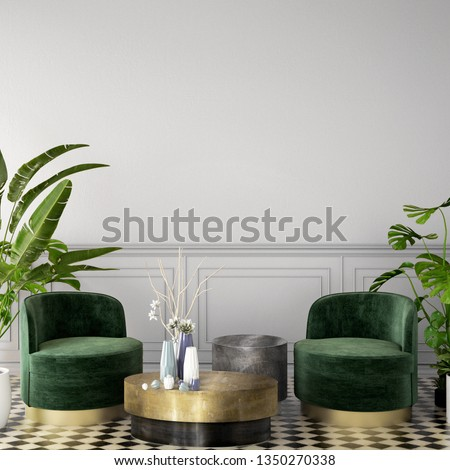 interior design in contemporary style with sofa on wooden floor and white wall background,3d illustration,3d rendering