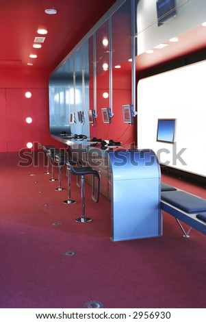 Interior Design Information on Interior Design In Internet Cafe Stock Photo 2956930   Shutterstock