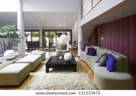 Interior design: Modern Living Room - stock photo
