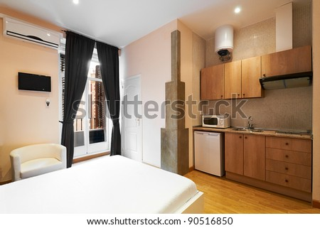 Interior Design: Modern Studio Apartment Stock Photo 90